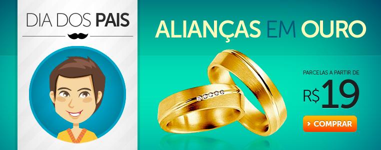 Alianças em ouro parcelas a partir de R$ 19