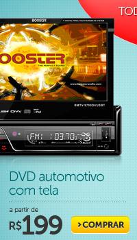 DVD automotivo com tela a partir de R$ 199