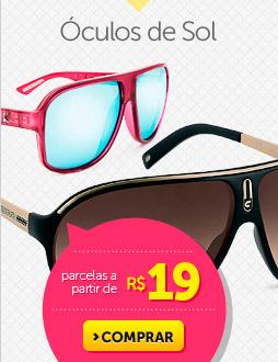Óculos de Sol parcelas a partir de R$ 19
