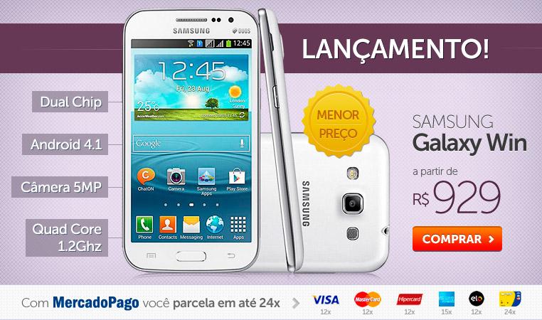 Galaxy Win Duos parcelas a partir de R$ 929! Menor preço