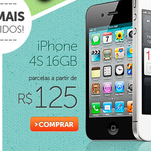 iPhone 4S 16GB parcelas a partir de R$ 125