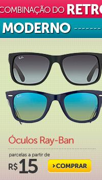 Óculos Ray-Ban parcelas a partir de R$ 15