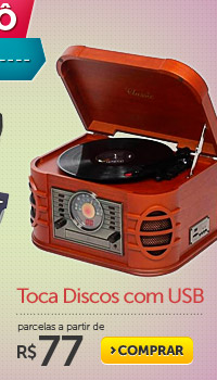 Toca Discos com USB parcelas a partir de R$ 77