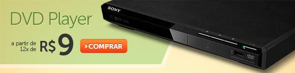 DVD Player a paritr de 12x de R$ 9
