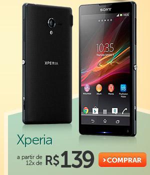 Xperia a partir de 12x de R$ 139