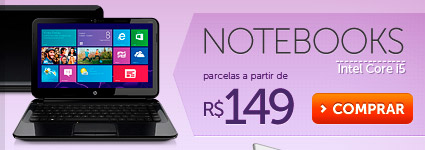 Notebooks Intel Core i5 parcelas a partir de R$ 149