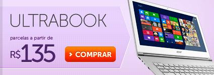 Ultrabook parcelas a partir de R$ 135