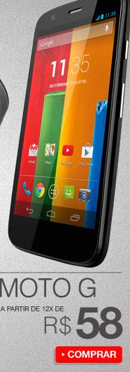 Motorola Moto G a partir de 12x de R$ 58