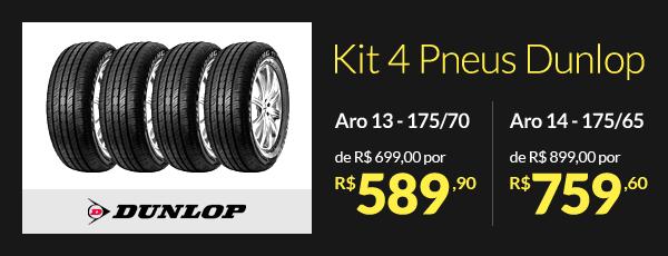 Kit 4 Pneus Dunlop Aro 13 175/70 - de R$ 699,00 por R$ 589,90